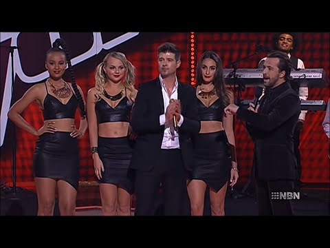 Baixar Robin Thicke - Blurred Lines, live on The.Voice.AU