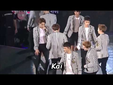 EXO members covering LuHan, Tao, Kris.