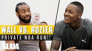 John Wall vs. Terry Rozier PRIVATE NBA RUN in Miami! #remyworkouts | SLAM Highlights