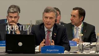 Argentina: World leaders attend G20 plenary session