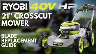"""Video: 40V HP Brushless 21"""" CrossCut Self-Propelled Mower with (2) 40V 6Ah Batteries and Charger"""
