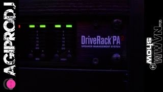 DBX DRIVERACK PA2 in action