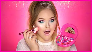 FULL FACE USING ONLY KIDS MAKEUP Challenge | NikkieTutorials