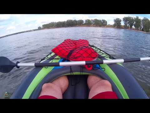 video Intex Challenger K1 Inflatable Kayak Review