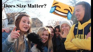 "Asking Girls ""Does Size Matter?"" ( University of Michigan)"
