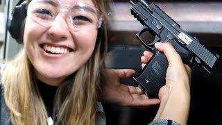 MY GIRLFRIEND SHOOTS A GUN FOR THE FIRST TIME