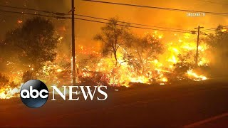 Deadly California wildfire forces thousands to flee