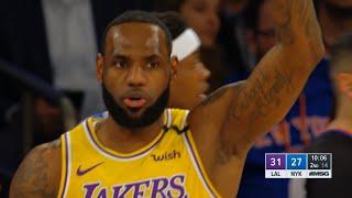 Los Angeles Lakers vs New York Knicks 1st Half Highlights   January 22, 2019-20 NBA Season