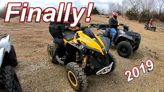 Renegade Xxc 1000 Returns!  Winter ATV Ride! In Kansas.