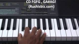 Vandemataram song Piano Tutorial by Mahesh Eera
