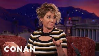 Jenna Elfman Watched Her Husband Make Out With Other Women  - CONAN on TBS