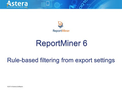 Rule-Based Filtering from Export Settings in ReportMiner 6.4
