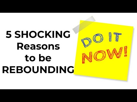 5 SHOCKING REASONS to be REBOUNDING - MINI Trampoline workout and benefits of rebounding