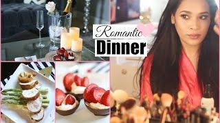 Get Ready With Me Romantic Date Night - Valentine's Day Dinner Chicken Cordon Blue  MissLizHeart