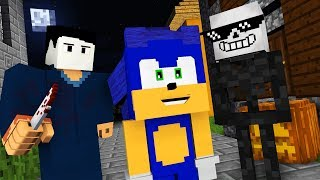 Monster School : MICHAEL MYERS HALLOWEEN & SONIC THE HEDGEHOG HORROR CHALLENGE - Minecraft Animation
