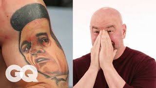 Dana White Tries to Guess UFC Fighter's Tattoos | Tattoo Tour | GQ