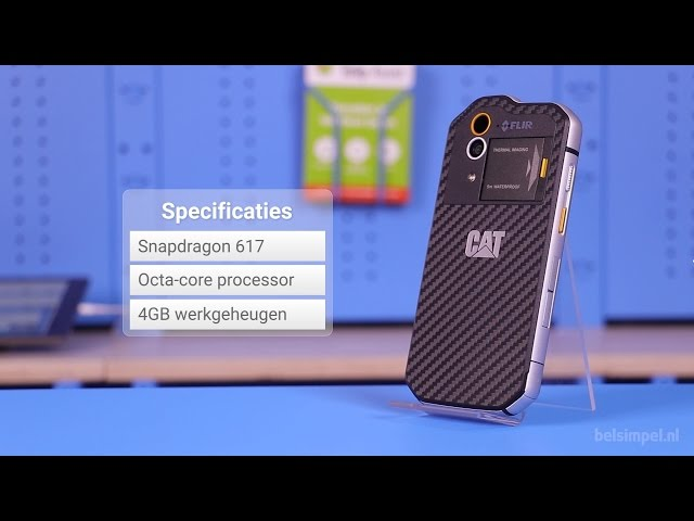 Belsimpel.nl-productvideo voor de Cat S60 Dual Sim Black