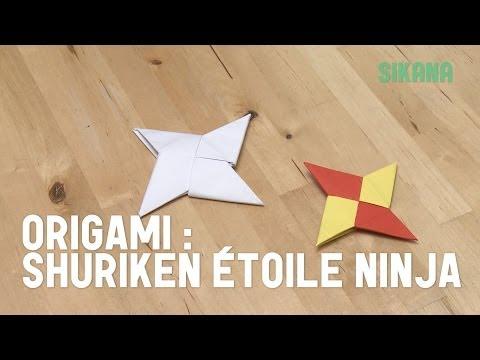 Comment faire une étoile de ninja en papier ?