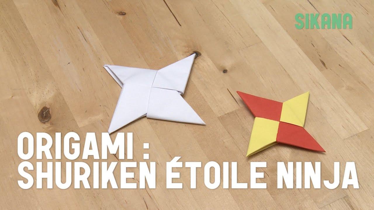 origami faire une toile ninja shuriken en papier hd. Black Bedroom Furniture Sets. Home Design Ideas