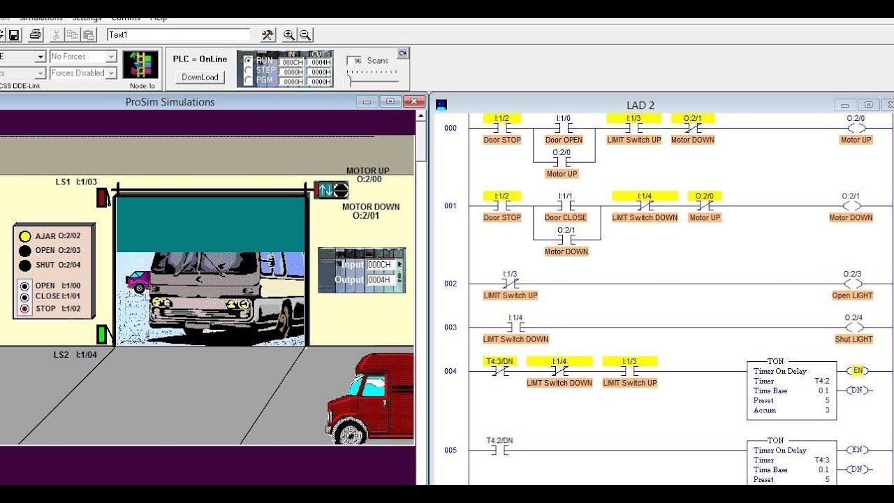 Logixpro Door Simulation Blinking Lights Youtube