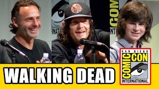 The Walking Dead Comic Con 2015 Panel - Norman Reedus, Andrew Lincoln, Chandler Riggs