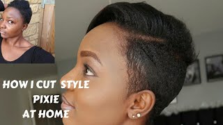 How I Cut, Relax & style my short hair at home. Pixie Cut