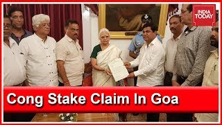 Congress Stakes Claim In Goa To Form Government, Meets Governor | RIP Manohar Parrikar
