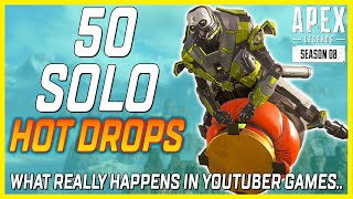 50 Solo Hot Drops in Apex Legends (The Truth About Apex YouTubers)