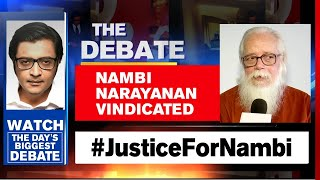Nambi Narayanan-ISRO Spy Case Truth Revealed After 27 Years | The Debate With Arnab Goswami