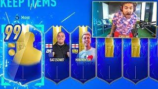 OMG I PACKED 3 ULTIMATE TOTS!! PACK CHALLENGE VS MINIMINTER!! FIFA 19