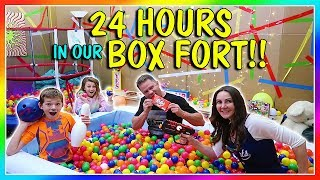 24 HOURS IN A BOX FORT   We Are The Davises