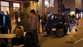 Bohemian Rhapsody karaoke in the streets of San Luis Obispo