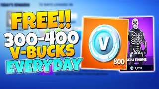 How To Get FREE 300-400 V-Bucks EVERYDAY! (BIG Project RESULTS) | Fortnite Save The World
