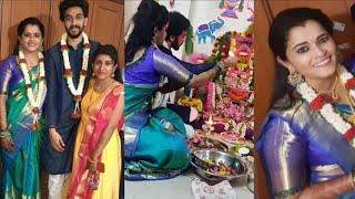 Watch: Actress Navya Rao and Varun's pooja event after mar..