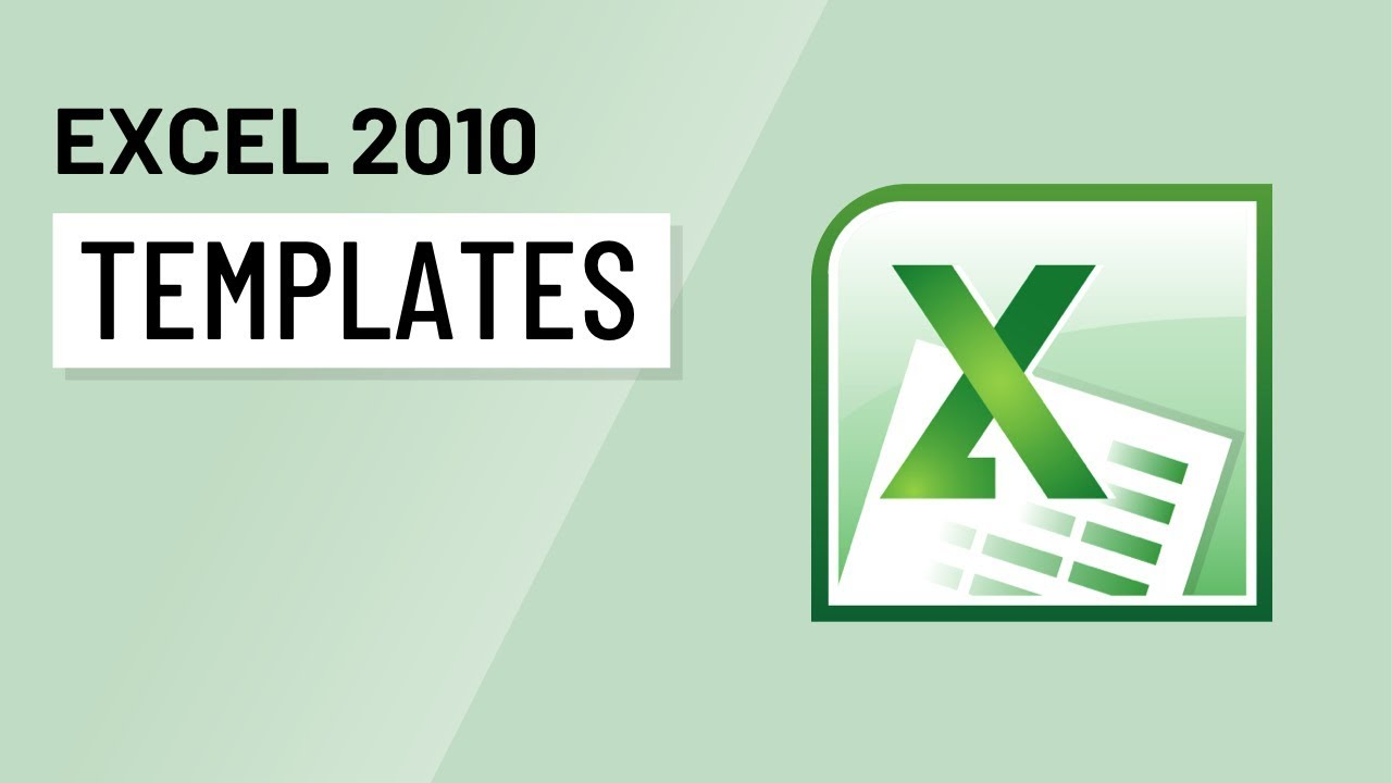 Excel 2010: Templates - YouTube