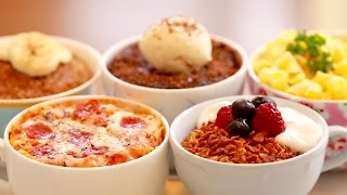 5 Microwave Mug Meals (Mug Pizza, Chocolate Brownie & More!) - Bigger Bolder Baking 106