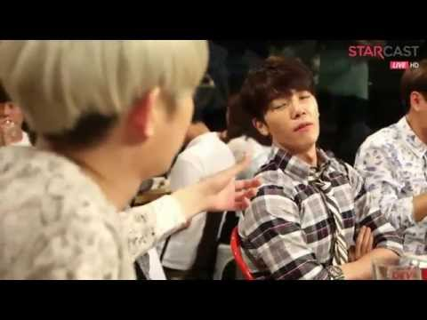 Super Junior's Naver Starcast Moment  - Heechul Talking about Donghae's Muscles