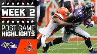 Ravens vs. Browns   NFL Week 2 Game Highlights