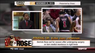 Skip Bayless  Derrick Rose Will Never Be the Same    FIRST TAKE   LIVE 11 25 13