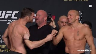 UFC 217 weigh-ins and face-offs: Bisping v GSP
