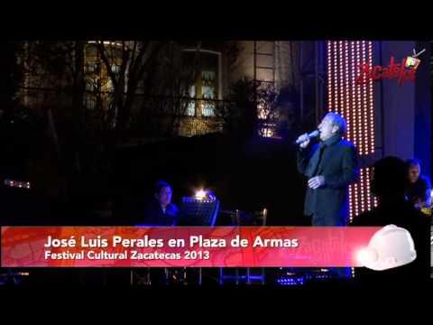 José Luis Perales en concierto en Plaza de Armas Zacatecas