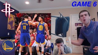 WARRIORS BIGGEST HATER REACTS TO WARRIORS BEATING ROCKETS IN GAME 6!! I THREW MY CHAIR..