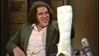 André the Giant on Letterman, January 23, 1984