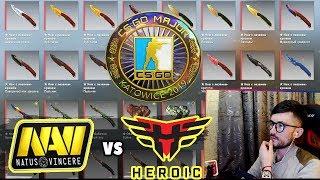 NAVI ПРОТИВ HEROIC ESL Pro League Season 9 Europe CS:GO . СТРИМ КС ГО / s1mple navi vs heroic