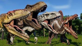 Jurassic World Evolution: BATTLE ROYALE ALL DINOSAURS!!! - Jurassic World Evolution   HD