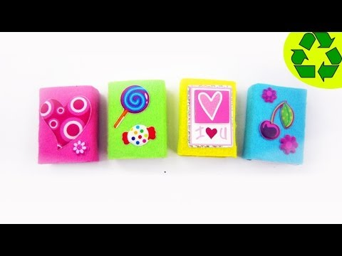 How to make cute felt mini gift boxes- Recycling