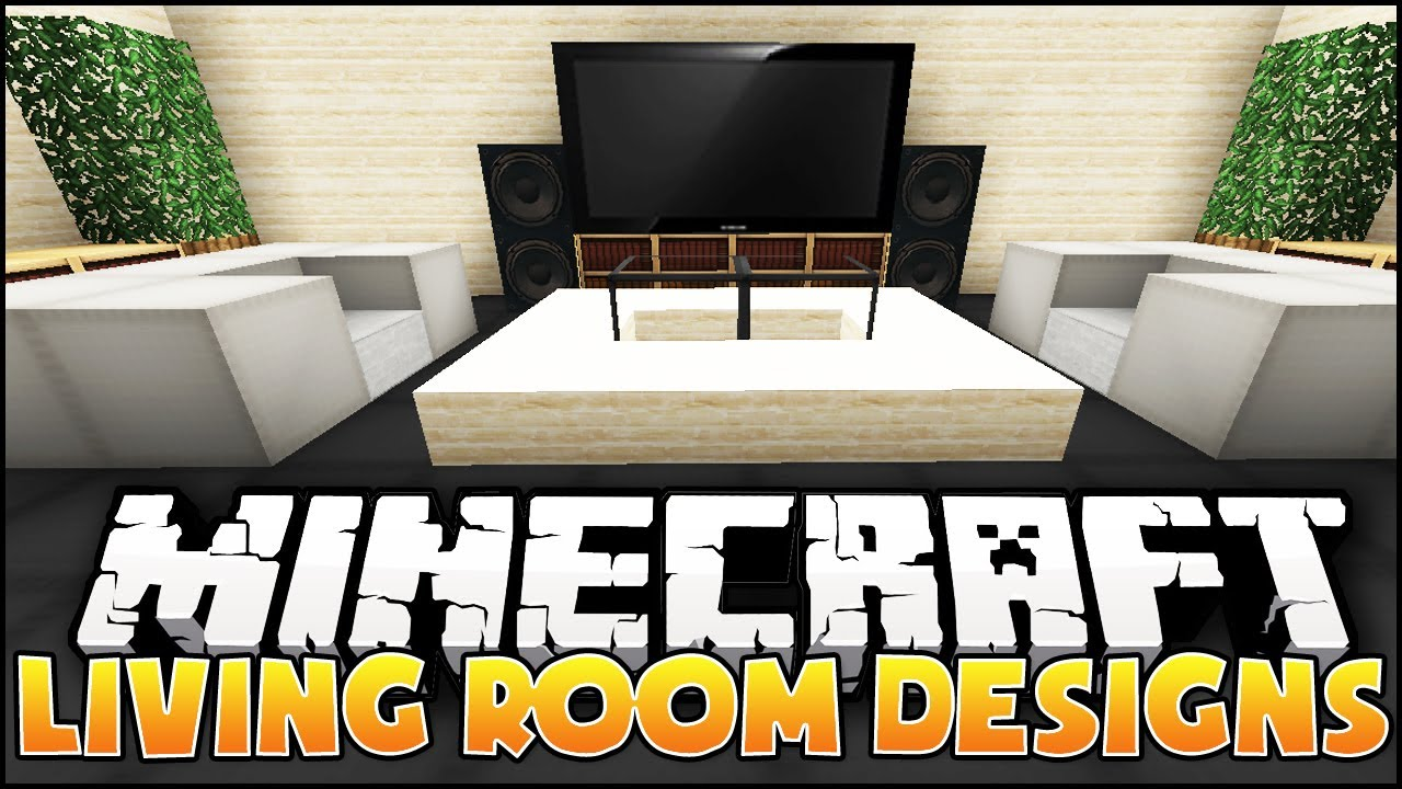 Minecraft: Nice Lounge/Living Room Designs & Ideas - YouTube