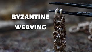 HOW TO MAKE A BYZANTINE WEAVING   TUTORIAL