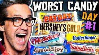 Worst Halloween Candy Bar Taste Test (Day 1)
