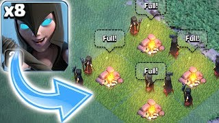 ALL NIGHT WITCH ATTACK!!! | Clash of clans | MASS GAMEPLAY!!